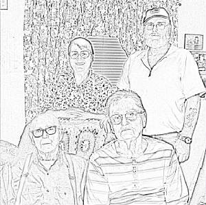 Original Family: Jack Sr. Jack Jr. Nina and Susie